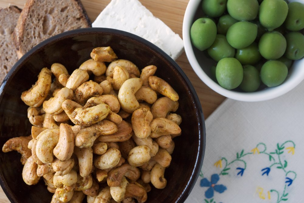 Indian-Spiced Roasted Cashews