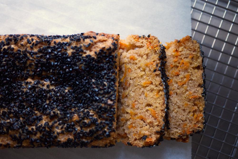 Vegan Black Sesame Carrot Cake