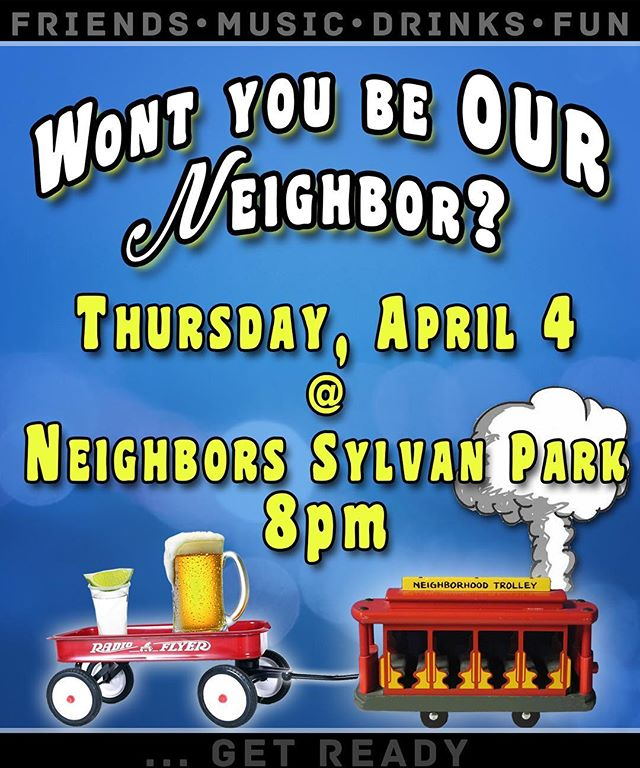 Save the date boys and girls!!! You won't want to miss this talent packed night!!! Artists to be announced soon!! Be on the looks out😜 • • • #neighborssylvanpark #wontyoubeourneighbor #nashville #countrymusic #singersongwriter #april4th #choochoo #beersfordays