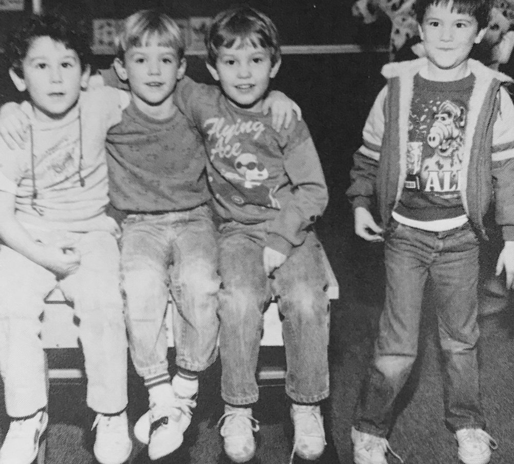 I'm the awkward one in the ALF shirt.   Our family moved to Alabama around the time I went to kindergarten.As you can tell, I had many friends.