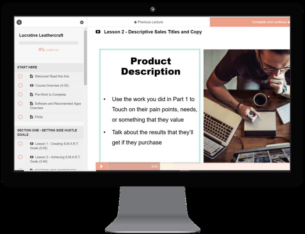 sales copy that sells, lucrative leathercraft