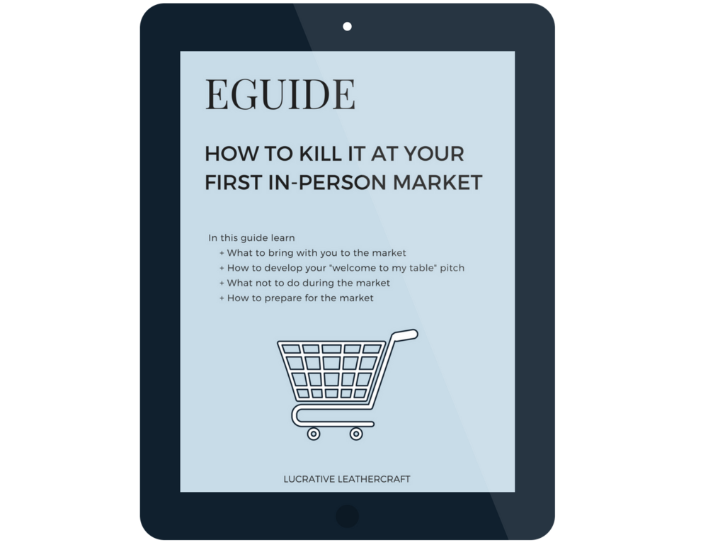 """Nail your first in-person market with this eguide. Learn what to bring with you, how to develop your """"welcome to my table"""" pitch and more."""