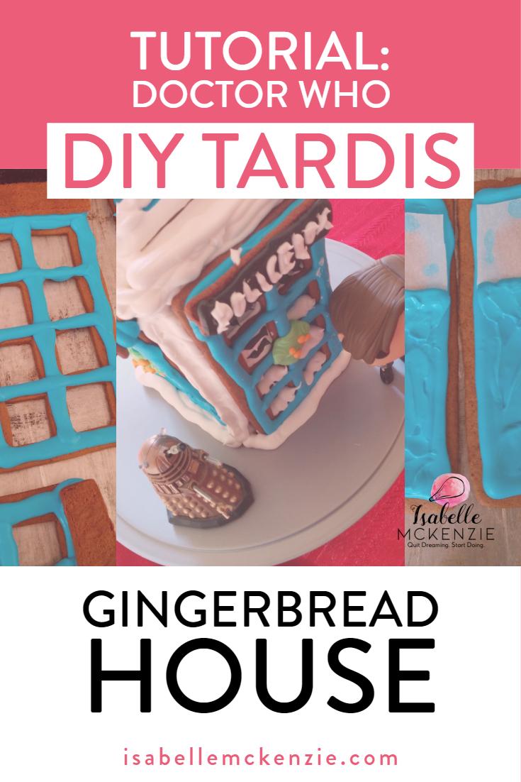 Tutorial_ DIY Doctor Who TARDIS Gingerbread House