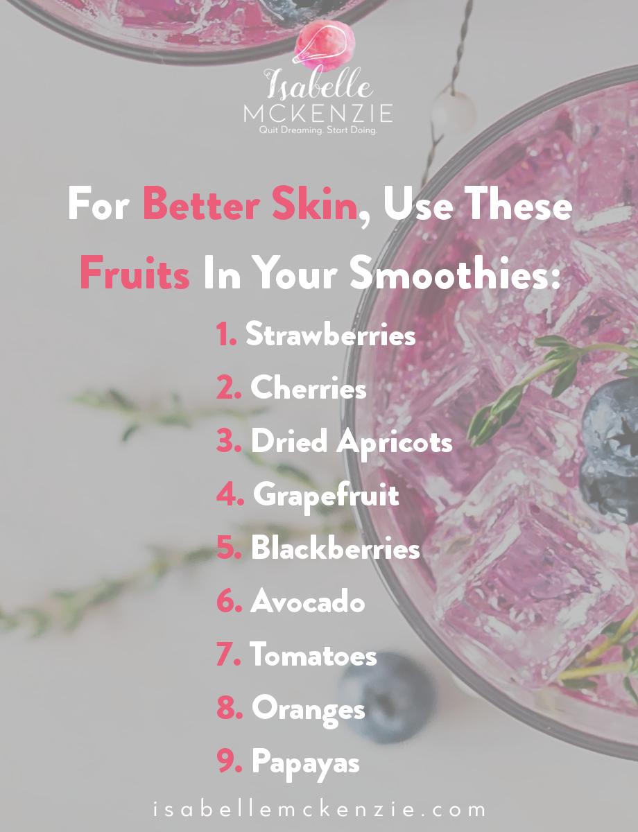 Fruit for better skin