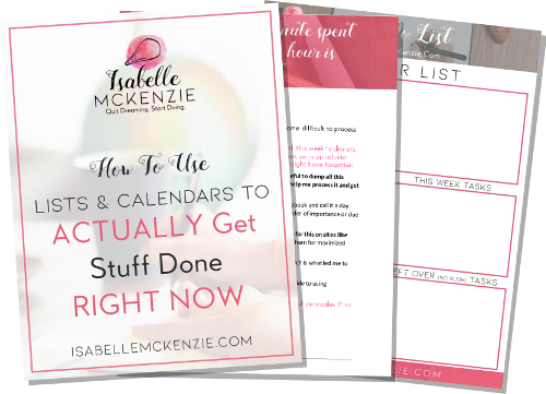 How To Use Lists and Calendars to Get Stuff Done Right Now