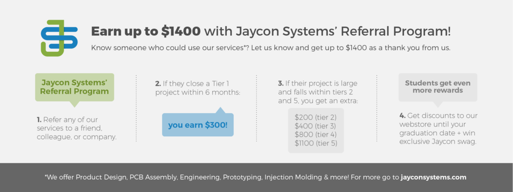 Jaycon Systems Introduces Referral Program