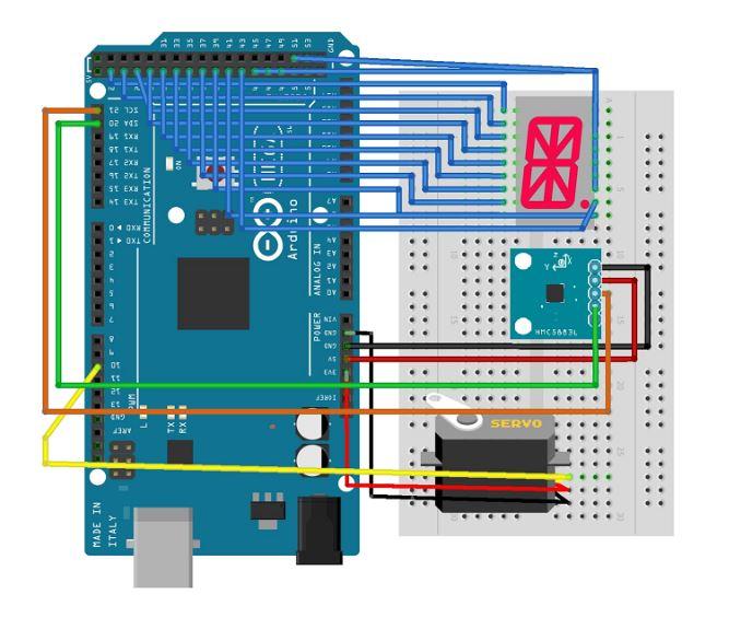 Digital Compass Circuit Diagram