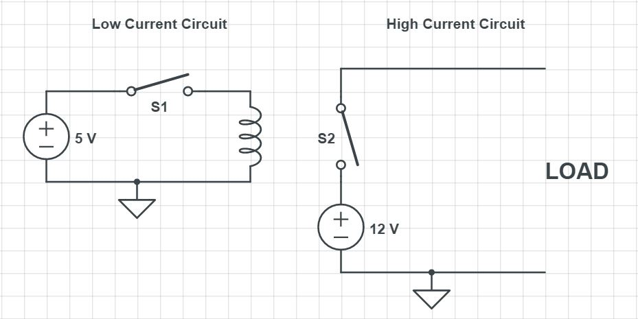 Normally Open Relay Circuit