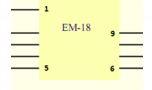 EM-18 Pinout Numbers