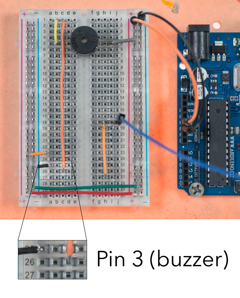 Buzzer Connection to Pin 3
