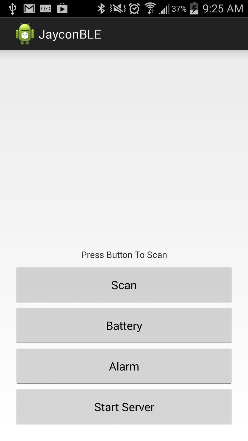 Android Screenshot nRF8002 BLE
