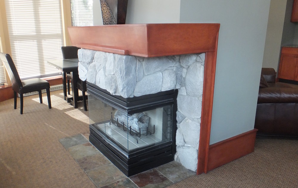 before - suite fireplace