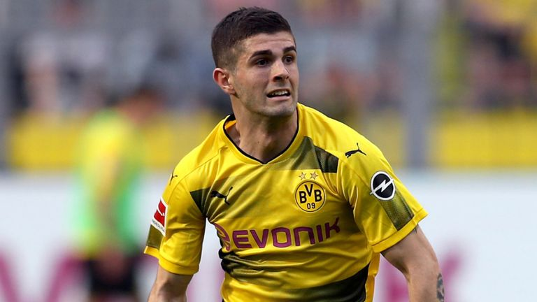 Chrisitan Pulisic currently plays for Borussia Dortmund but will join England's Chelsea next season