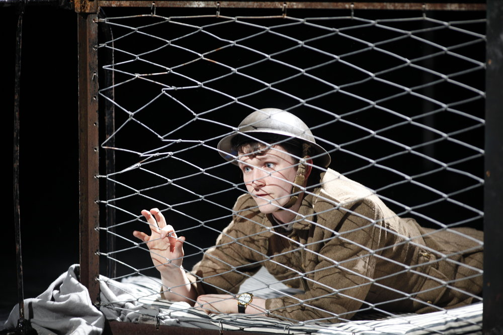 Shane O'Regan as Tommo in Private Peaceful by Michael Morpurgo Photo by Tom Lawlor Verdant Productions.JPG