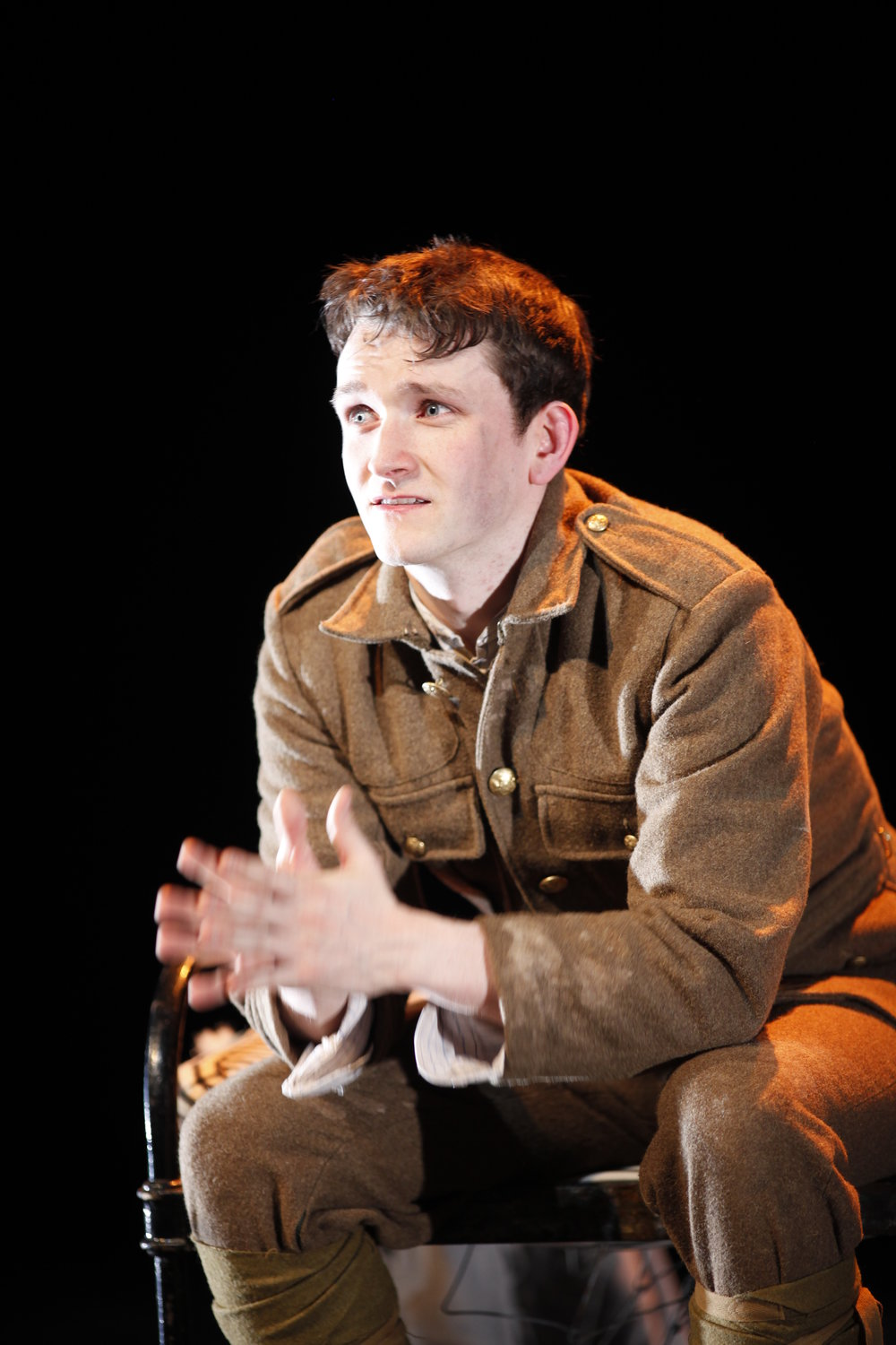 Shane O'Regan as Tommo in Private Peaceful by Michael Morpurgo  Photo Tom Lawlor Verdant Productions.JPG