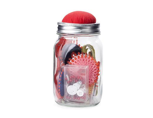 Mason jar sewing kit!