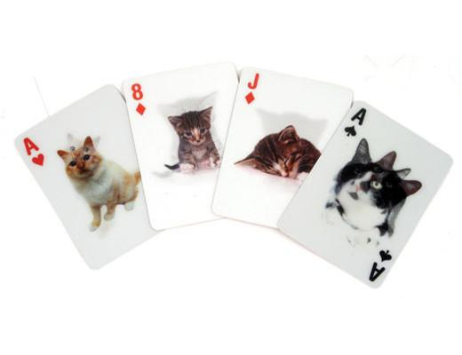 Lenticular kitty playing cards!