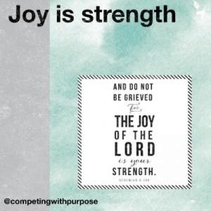 joy is strength full phoster