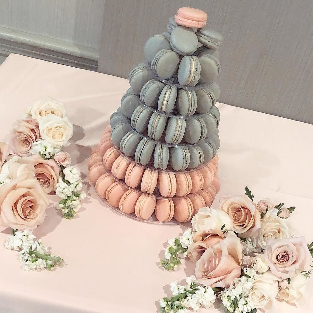 Macaron stand that holds up to 236 macarons.