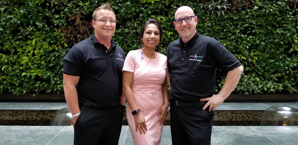 With Male Breast Cancer survivors/advocates- Bret Miller (Founder, MBCC) & Michael Patty Singer!