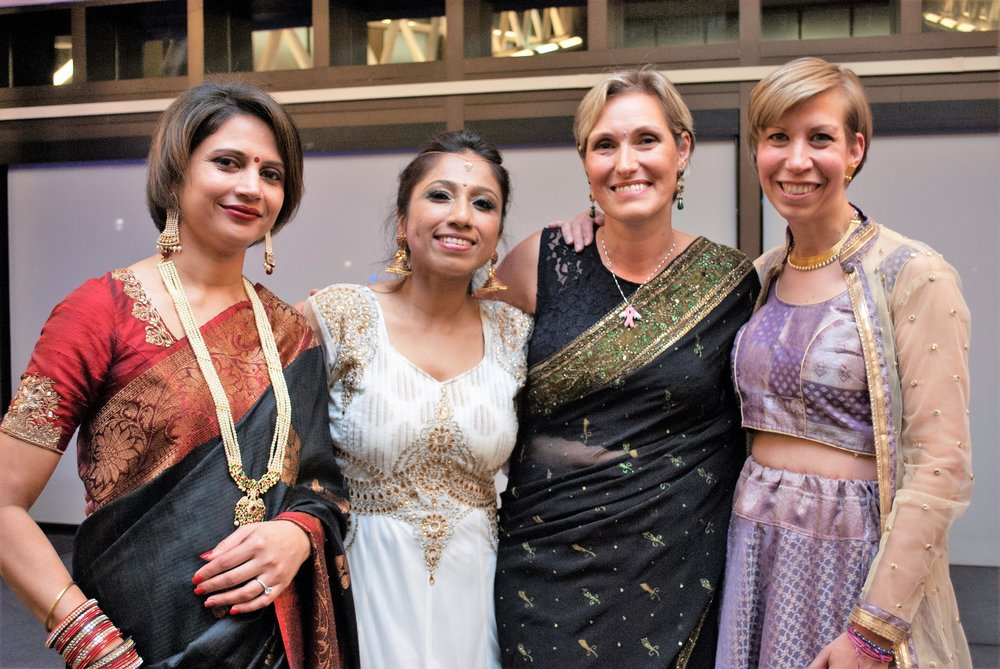 L to R: Richa Khandelwal, Lopa Das Roy, Evey Cormican, Christine Post... Our Heroes, Our BreastCancer Advocates... Richa, Evey, Christine