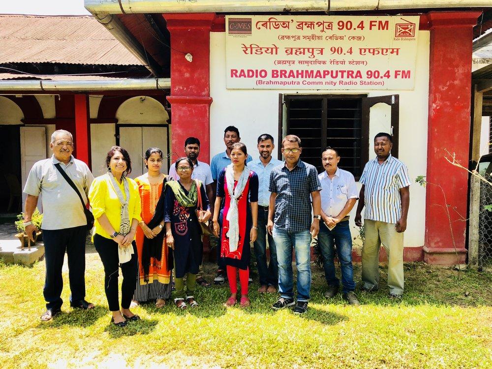C-NES (Boat Clinics) Dibrugarh & Radio Brahmaputra Team: It was a pleasure meeting Dr. Juganta Kumar Deori, Ms. Nandita Kalita, Ms. Damayanti Das, Ms. Devarani Deori, Dr. Bhaben Chandra Bora, MO;  Mr. Arup Saikia, Mr. Siddhanath Gogoi, Mr. Ramakant Yadav, Mr. Rakesh Doley, Mr. Bhaskarjyoti Bhuyan and Mr. Dipankar Bird Chonre. My sincere thanks to Mr. Arup Saikia for DPO, Boat Clinics and Mr. Bhaskarjyoti Bhuyan, Station Coordinator, Radio Brahmaputra for collaboration.