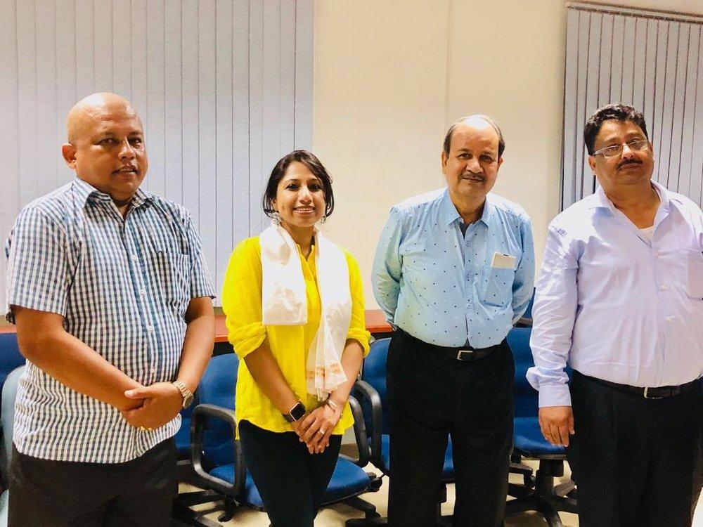 It was a pleasure and honor meeting L to R: Dr. H. K Das, Assistant Director (Public Health); Dr. J. Mahanta, Emeritus Scientist; Dr. D. K. Narain, Director, ICMR.