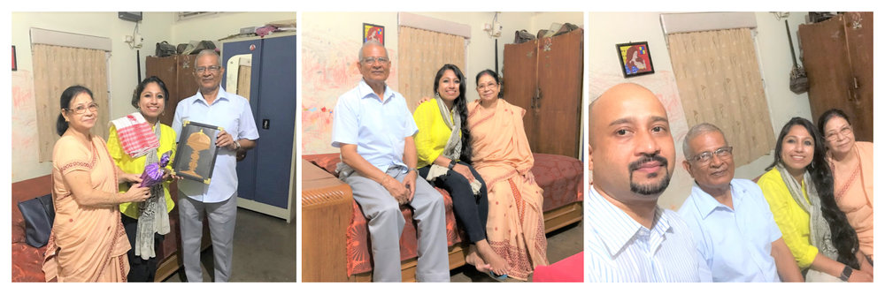 My earnest gratitude for Mr. Bharat Khaund, Retired Principal, Jhanji Higher Secondary School in Sivasagar, currently settled in Dibrugarh, for his immense help by connecting me to Dr. Gayatri Gogoi. It was a pleasure meeting the wonderful family of Mr. Khaund, his wife Mrs. Manju Khaund and son Mr. Subrat Khaund. Sincerely thankful to Mrs. Susmita Baruah for connecting me to Mr. Bharat Khaund.