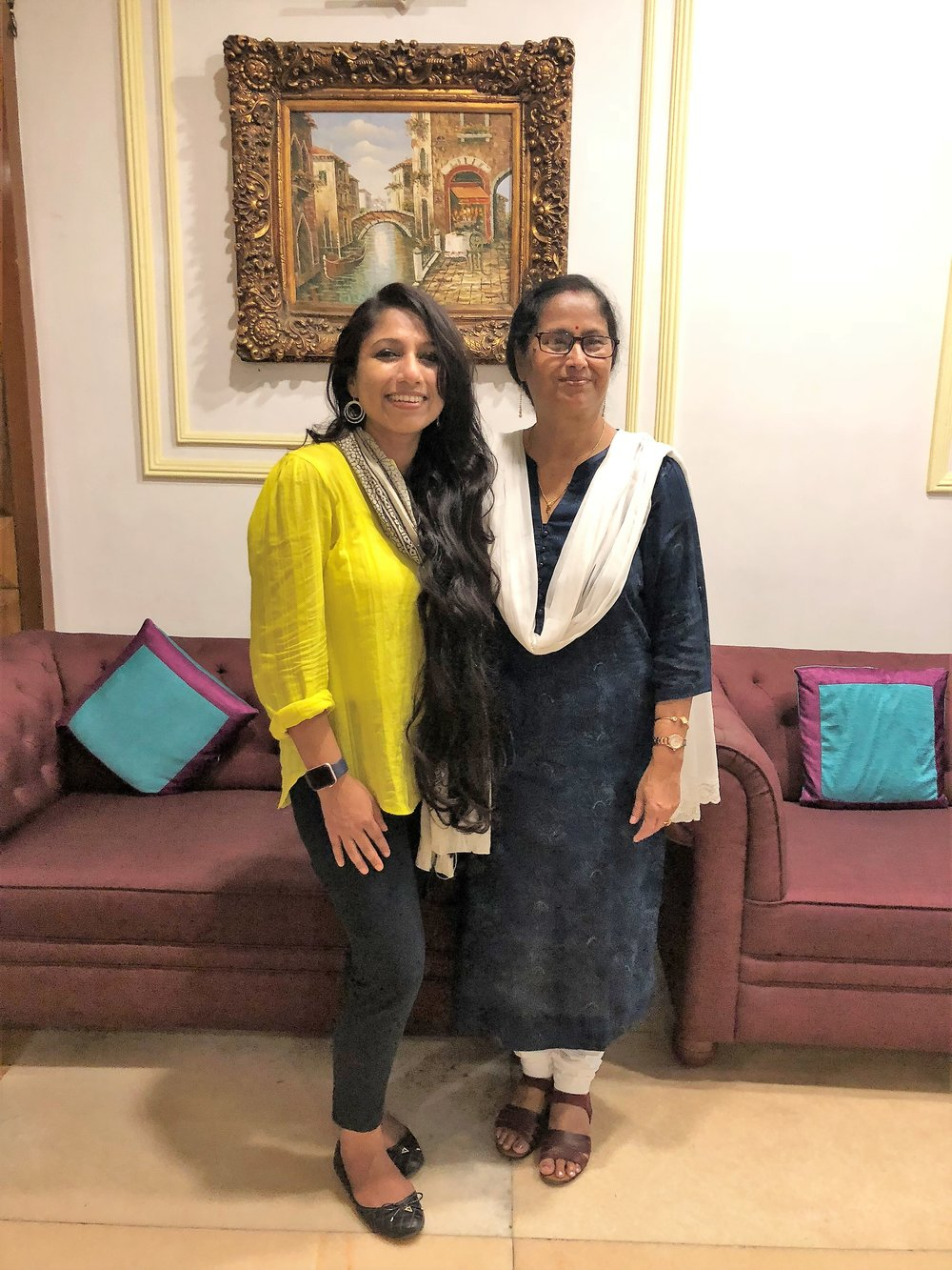 With Mrs. Susama Patgiri who is immensely supportive for the cause and is a part of connectors' committee of the foundation!