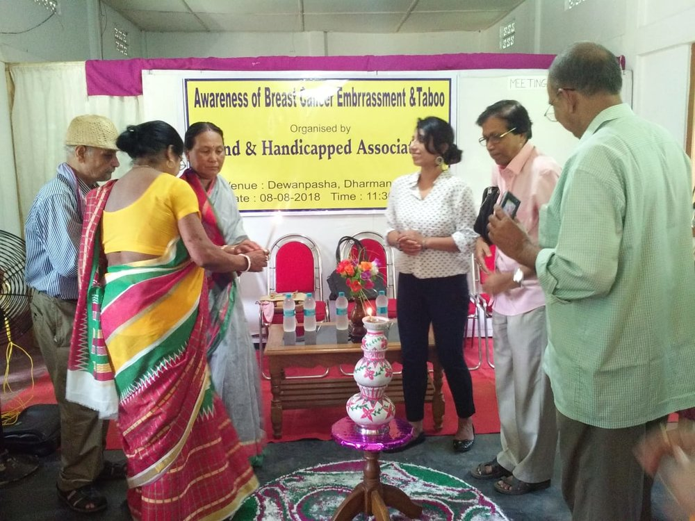 Sincerely thankful to Ms. Shilpi Roy from Blind and Handicapped association, with whom I coordinated and who helped me to do the outreach in Dharmanagar. Sincerely grateful to Mr. Tapan Kumar Bhattacharjee, Secretary of Blind and Handicapped association and all the members who came forward, organized such a wonderful event and also coming forward for collaboration.