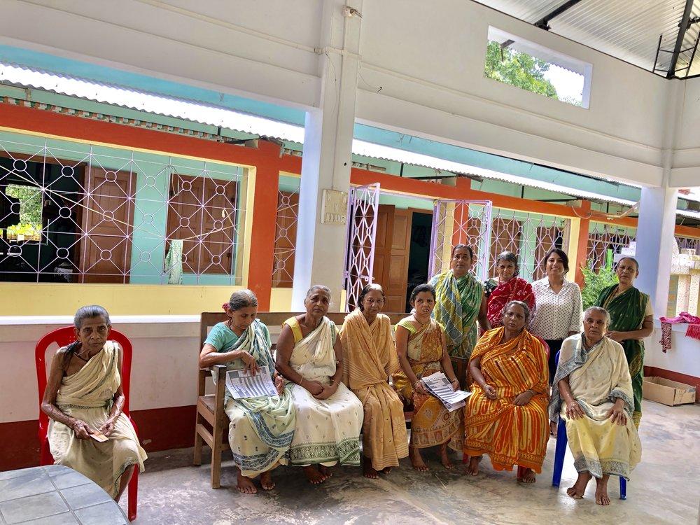 A small outreach at Prantik, Old age home in Dharmanagar.