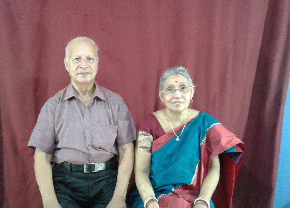 Mrs. Bina Baidya with her loving, amazingly supportive husband Mr. Atindra Baidya.