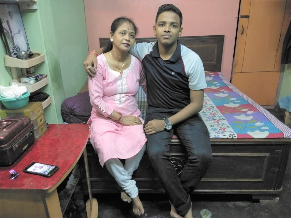 Mrs. Titu Gupta with her son Mr. Abhay Gupta.