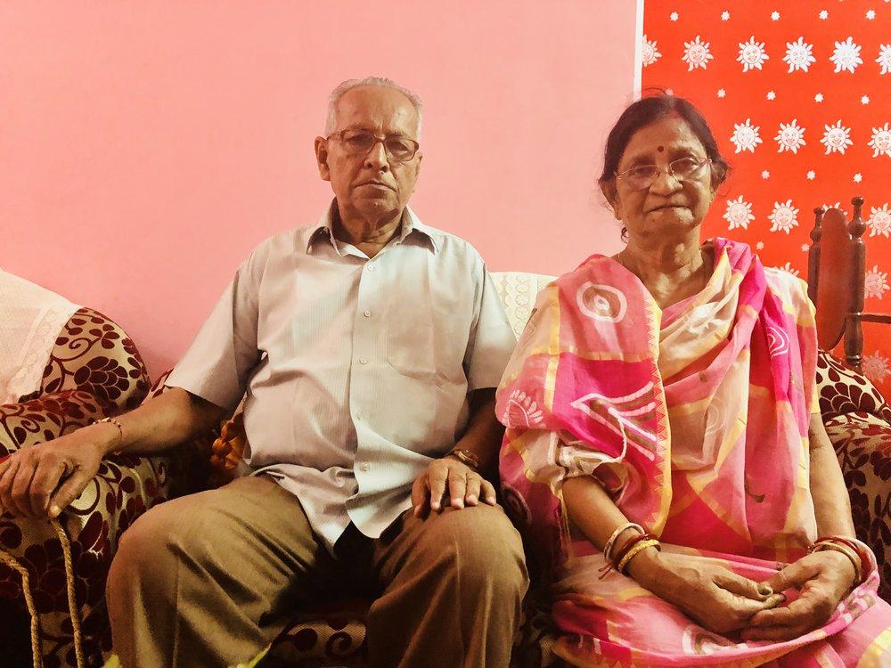 Mrs. Bithika Nag with her very supportive and loving husbamd Mr. Abanindra Kr. Nag..
