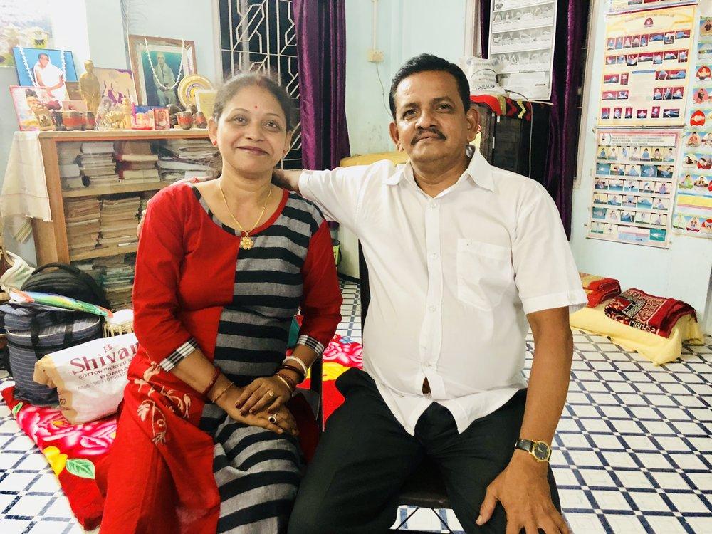 Mrs.Titu  Gupta with her very supportive and affectionate husband Mr. Alok Kumar Gupta.