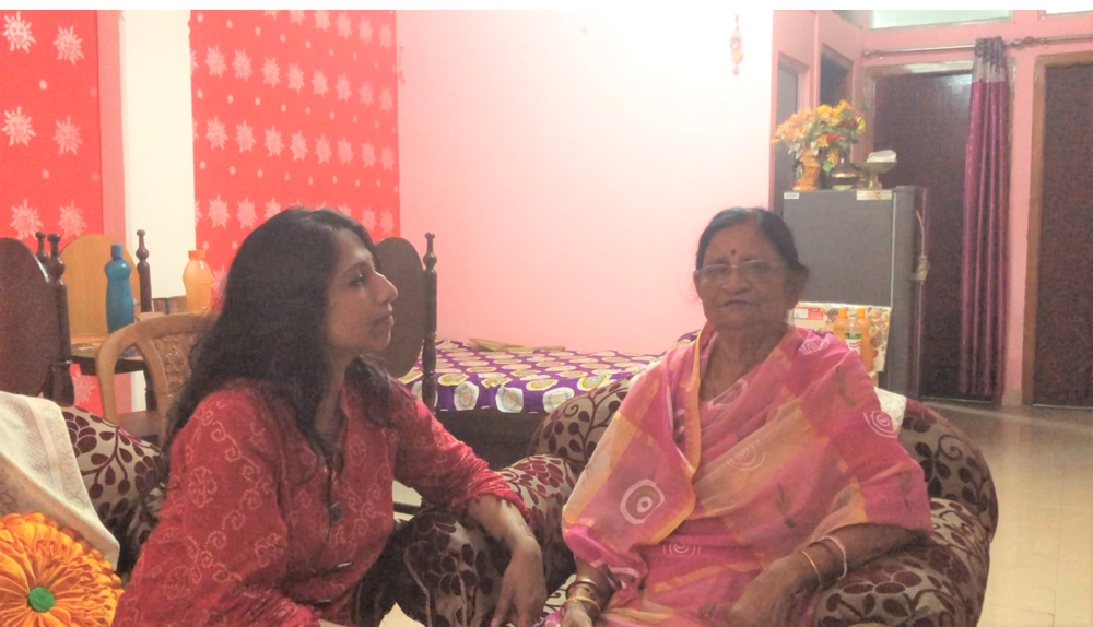 My sincere thanks to Mrs. Tomali Brahmachari for connecting me to Mrs. Bithika Nag, 75 yrs, diagnosed with Stage III Breast Cancer five years back. It was a pleasure meeting Mrs. Nag and her wonderful family on 4th August 2018! Mrs. Nag was shy to speak up and even ignorant about the situation that delayed the diagnosis. I was so happy and proud of Mrs. Nag since in the interview she urged others not to commit the same mistake as she did and requested everyone to break the taboo and come out of the stigma. It takes a lot of courage to speak our mind and Mrs. Nag was not hesistant to d so! With the immense support from her wonderful family, she could fight stage III Breast cancer bravely! Mrs. Nag, inspiration for the society!