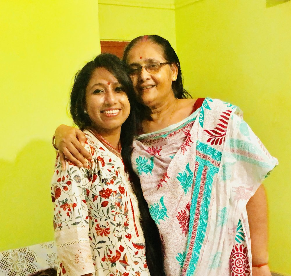 Mrs. Kalpana Choudhury, 65 yrs, 10 year survivor from Stage III breast cancer opens up about her journey. It was a treat & delight meeting such a loving person on 1st August 2018! Sincerely thankful to Mrs. Tomali Brahmachari for connecting me to Mrs. Kalpana Choudhury. It was shyness and ignorance that delayed her diagnosis. She is extremely thankful to her daughter, Mrs. Tomali Brahmacharjee, Mrs. Tomali's mother-in-law, Mrs. Shibani Brahmachari and her son-in-law Mr. Rajarshi Brahmachari who guided her through and through and helped to take immediate action when Mrs. Tomali accidentally felt the lump in the breast of her mother.  It was a treat meeting Mrs. Choudhury on 1st August... so full of life and energy! She never hesitated to speak about her journey and sincerely acknowledged that it was her ignorance that delayed the diagnosis and she wants that others should not do the same... thats the spirit and enthusiasm... Hats off to Mrs. Choudhury!