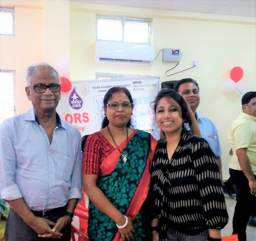 With Dr. C. S Das and Mrs. Jhuma Das