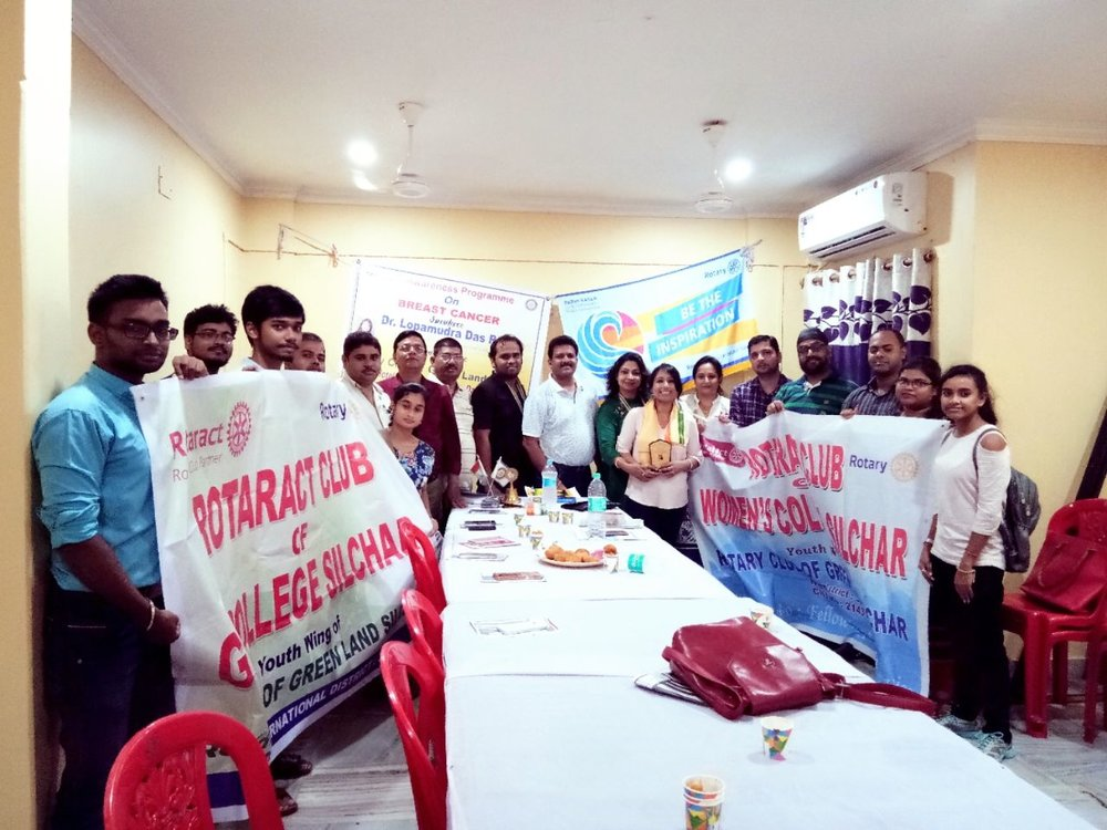 Sincerely grateful to Mrs. Madhumita Paul, President, Rotary Club of Green Land Silchar, for coming forward and organizing the awareness program. Thanks to Rotaract club of G.C College, Silchar and Rotaract Club of Women's college, Silchar for coming forward to support the cause!