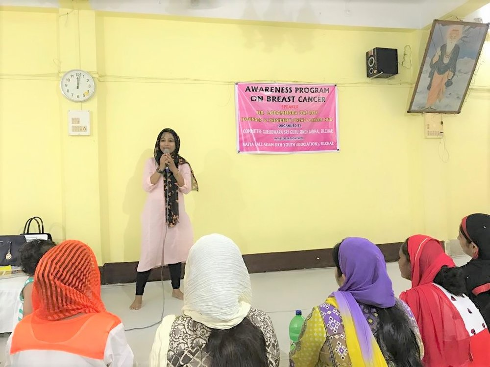 The presentation focused on the important issues with Breast Cancer and emphasizing on early detetion which is the key via Breast self examination and other screening processes