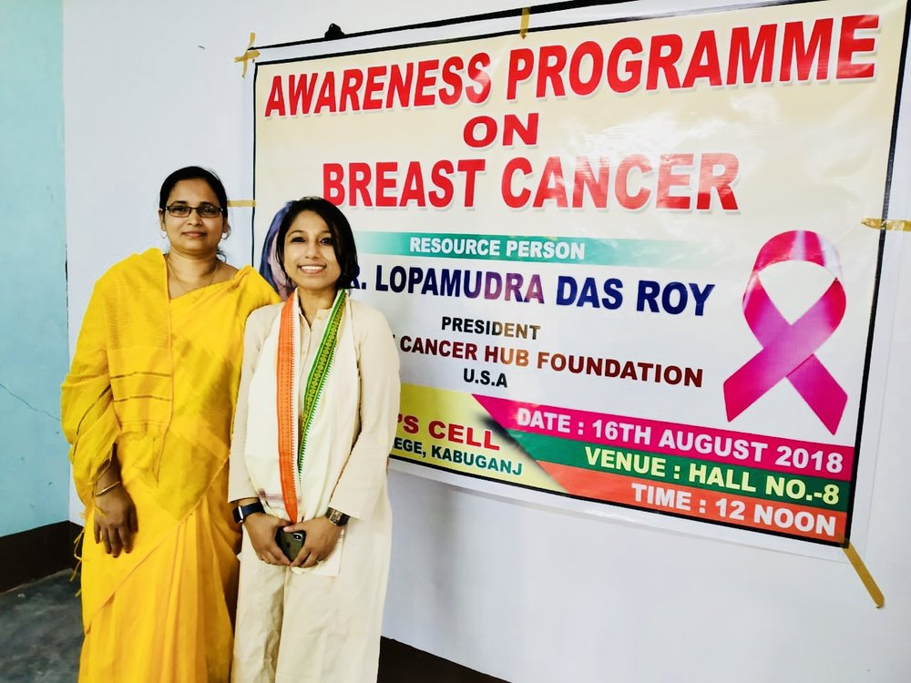 I am so thankful to Dr. Shirtaz Begum, Assistant Prof. Dept. of Philosophy, for supporting the cause and inviting me to Janata College, Kabuganj, Assam, to talk on Breast Cancer Awareness, sincerely appreciate your thoughts & perspectives.