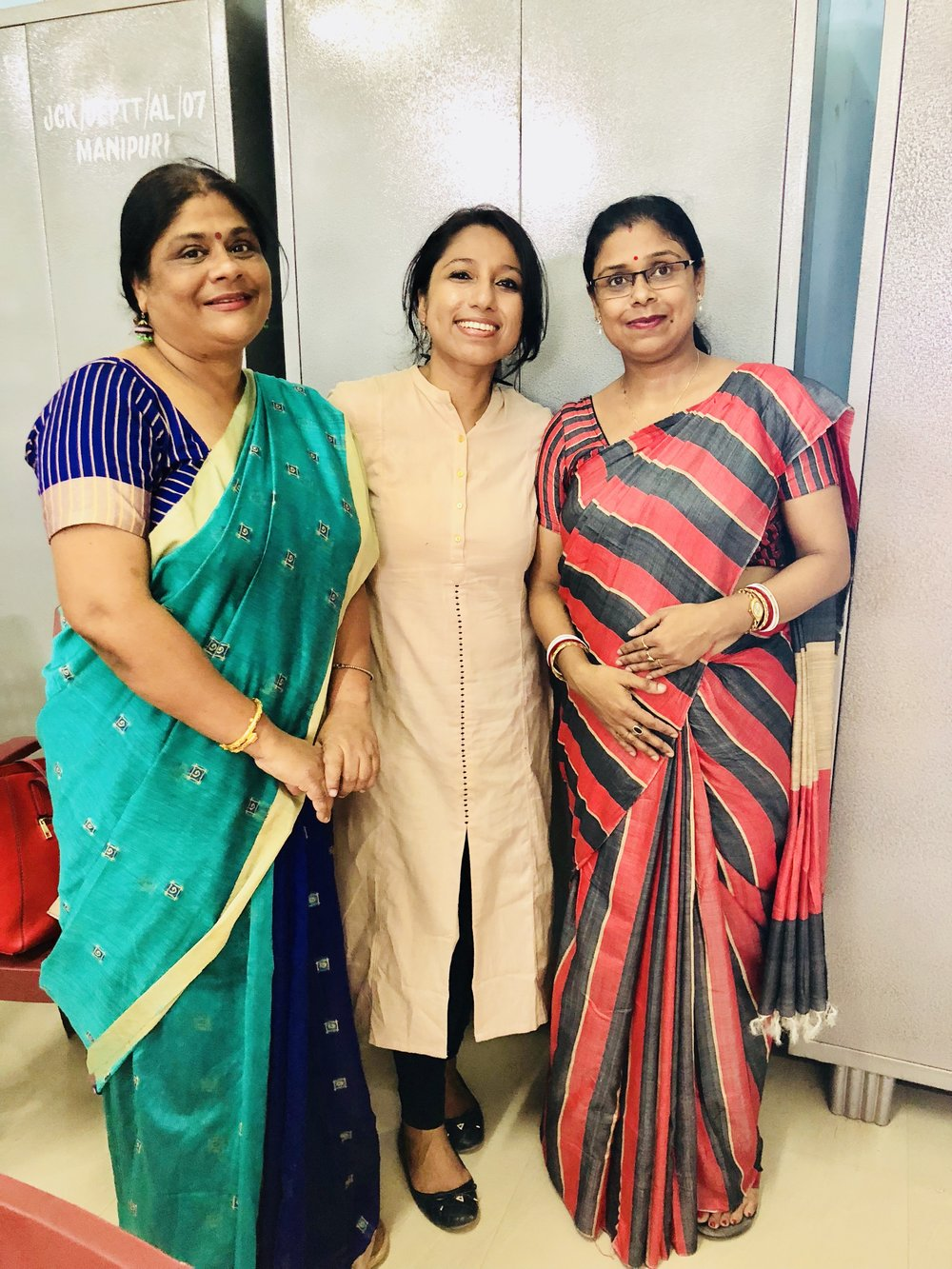 I am so thankful to Dr. Sima Ghosh, Associate Prof. & Head, Bengali Dept. and Mrs. Soma Bhattacharjee, Assistant Prof. & Head, Philosophy Dept., for giving me the long distance ride to the College & I thoroughly enjoyed the conversation on our way back & forth. Will cherish the moments together!