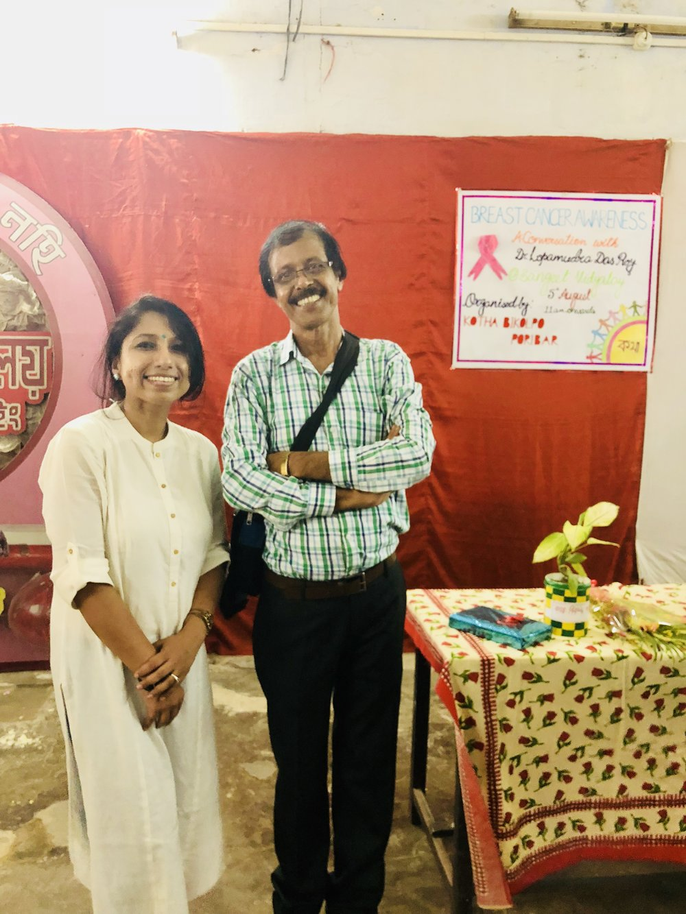 Sincerely thankful to Mr. Kamal Chakraborty, integral part of Katha Bikalpa Parivaar along with the vibrant, thoughtful young generation for organizing the Breast Cancer Awareness event on 5th August, 2018.