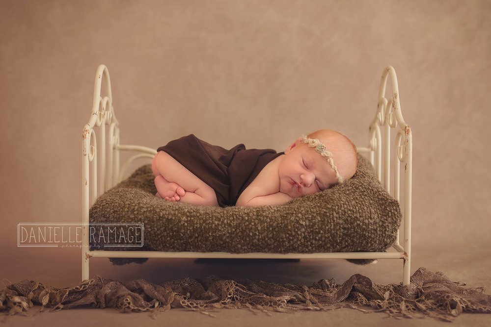 Cream Iron Bed