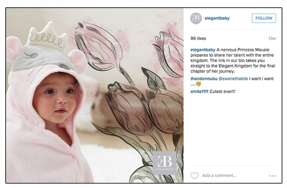Elegant Baby Princess Mousie Campaign