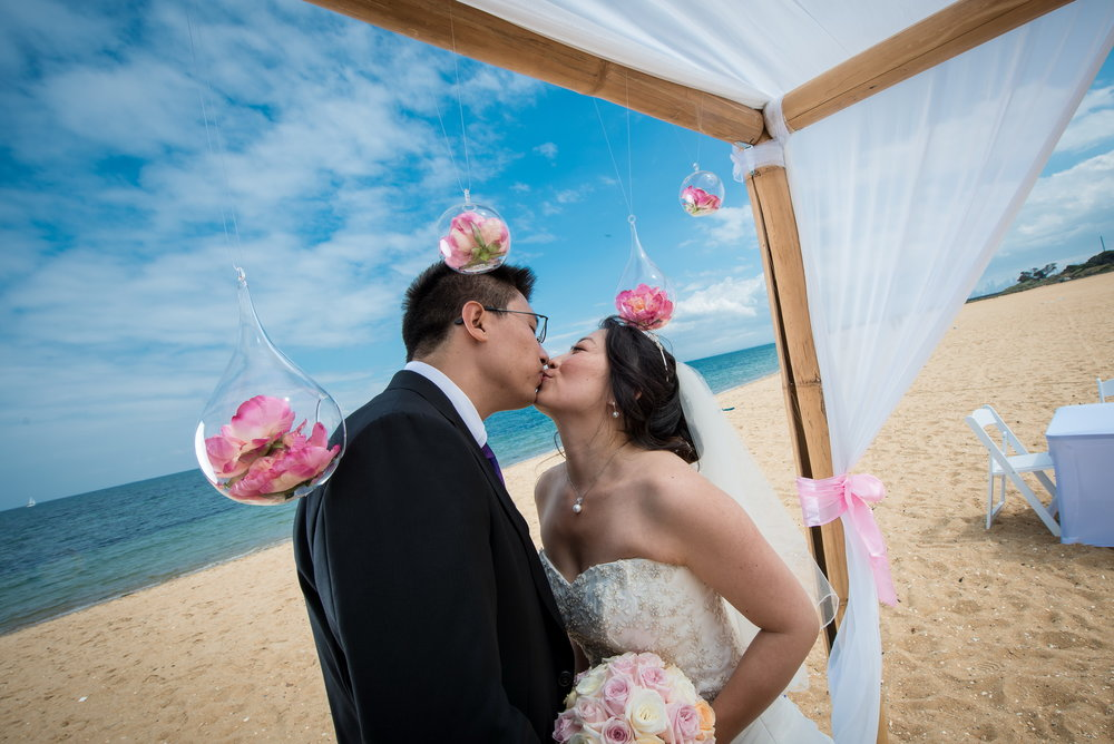 Brighton Savoy beach wedding