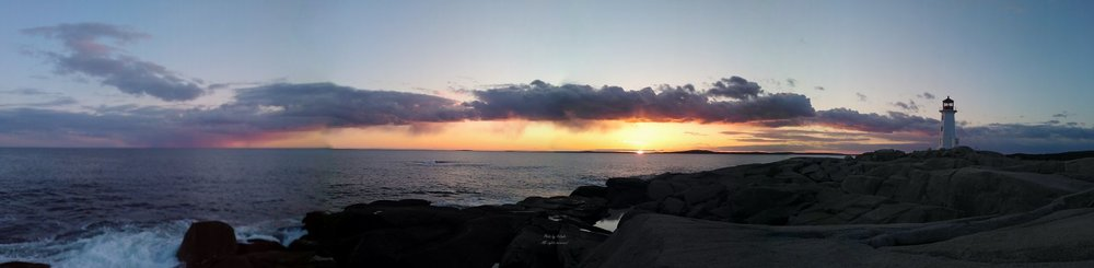 Sunset at Peggys Cove  Photo by Becky