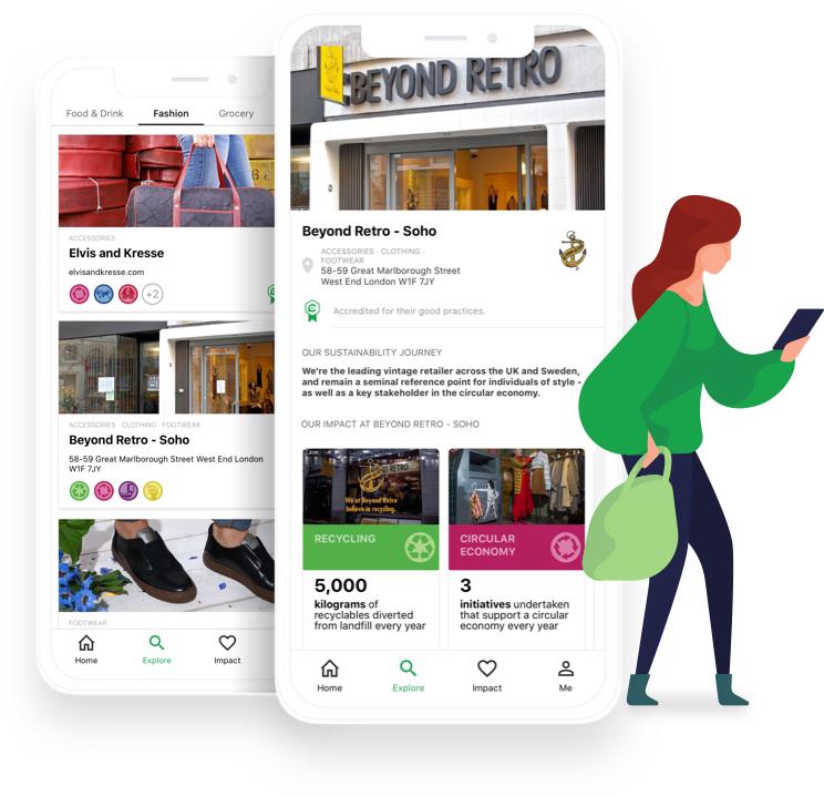 Group image of CoGo app and woman using CoGo