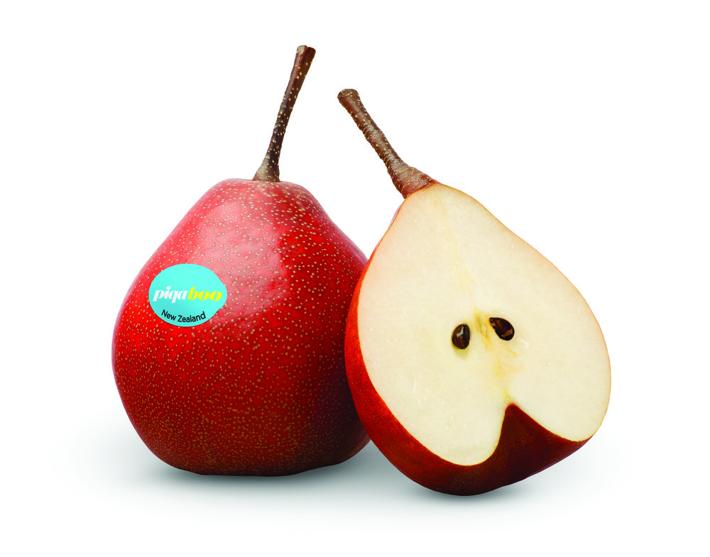 Piqa Pears Whole and Half Vertical