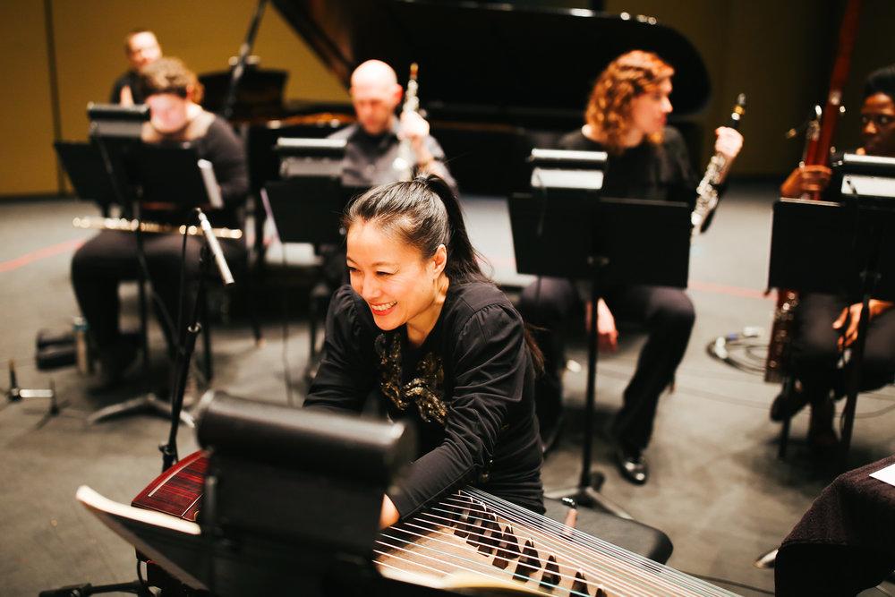 Hello Gold Mountain by Composer & Guzheng virtuoso Wu Fei, with chatterbird ensemble and Shanir Exra Blumenkranz of Silk Road Ensemble. Nashville, TN